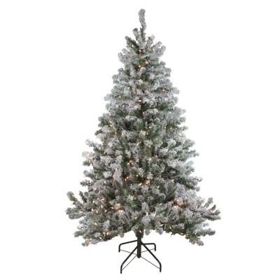 Northlight 6' Prelit Artificial Christmas Tree Flocked Balsam Pine - Clear Lights