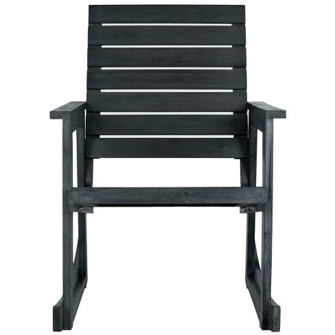 Alexei Rocking Chair - Dark Slate Grey - Safavieh - image 1 of 4