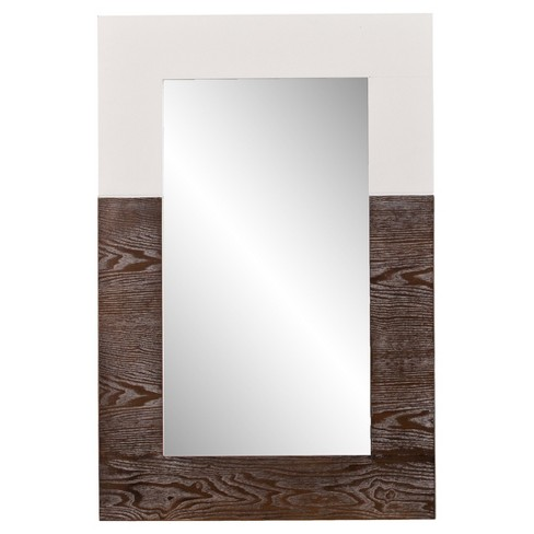 "Wagars Mirror Burnt Oak/White 36""x24"" - Holly & Martin - image 1 of 5"