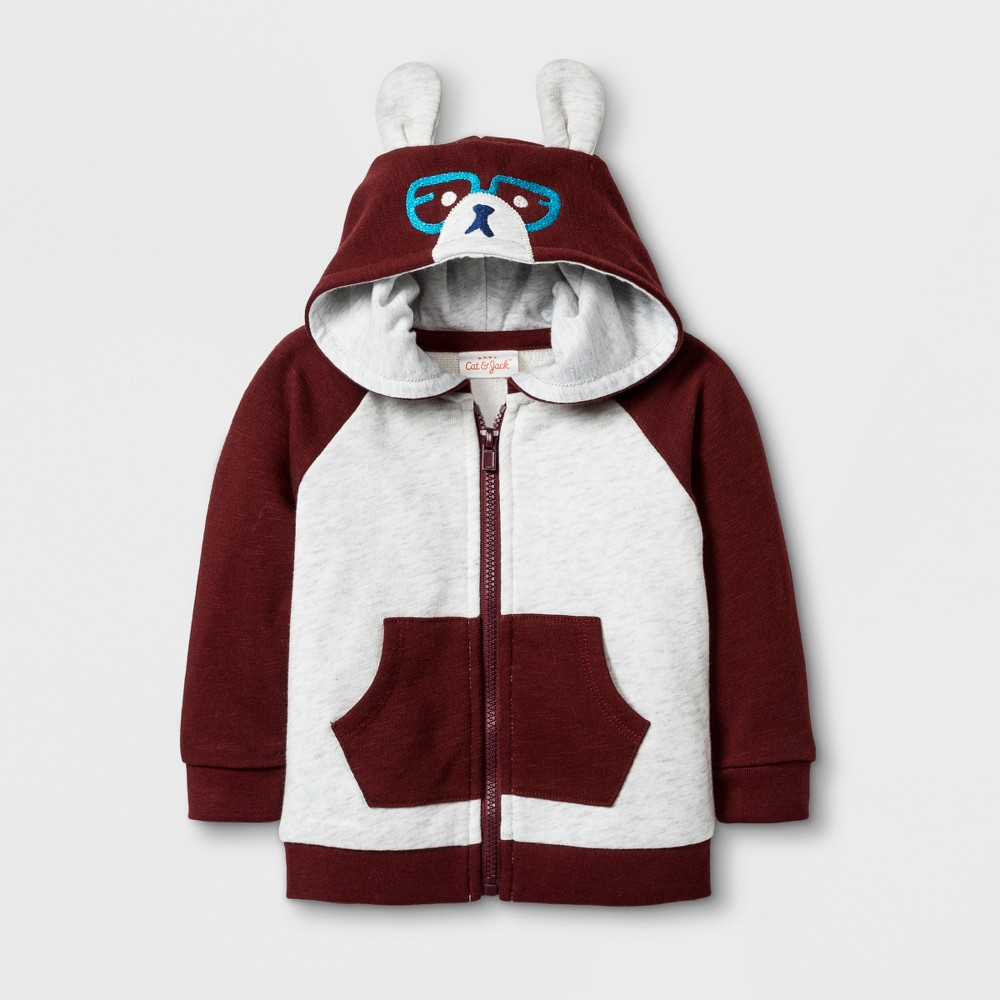 Baby Boys' French Terry Hooded Sweatshirt - Cat & Jack Red Newborn