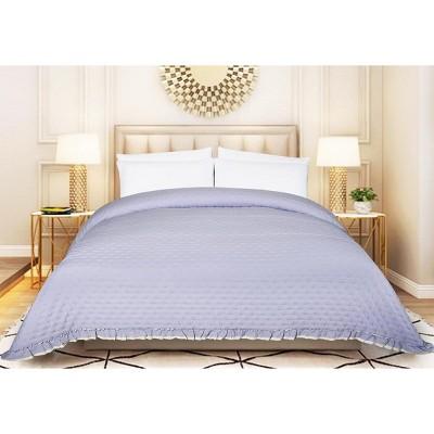 DE MOOCCI DOT Ruffled Oversized All Season Middle Weight-Hypoallergenic-Wrinkle & Fade Resistant Single Bedspread