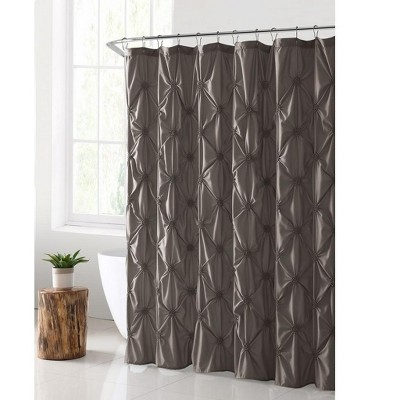VCNY Home Flora Pintuck Shower Curtain - 72 x 72 Taupe