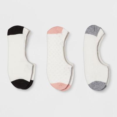 Women's 3pk Liner Socks - A New Day™ Cream 4-10