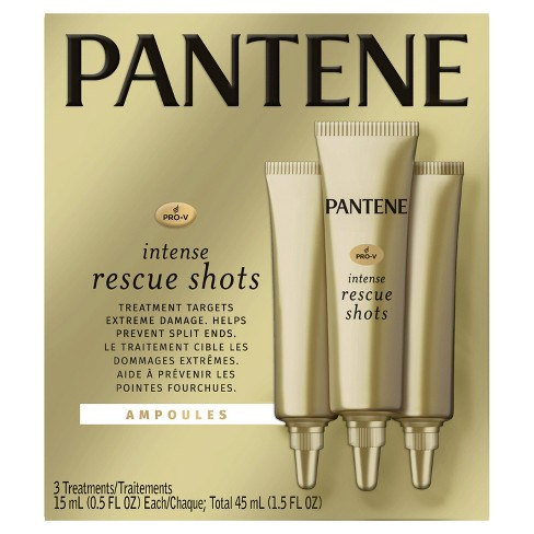 Pantene ProV Intense Rescue Shots Hair Ampoules for Intensive Repair of Damaged Hair - 3pk/5 fl oz - image 1 of 4