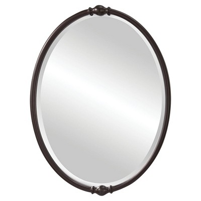 """Dannis 24"""" x 32 3/4"""" Oil-Rubbed Bronze Oval Wall Mirror"""