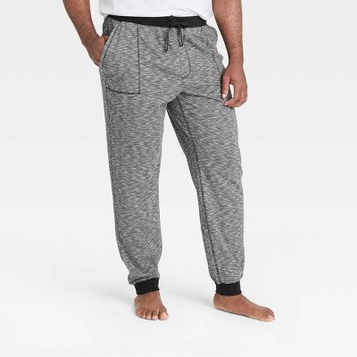 Men's Big & Tall Double Weave Jogger Pajama Pants - Goodfellow & Co™ Black