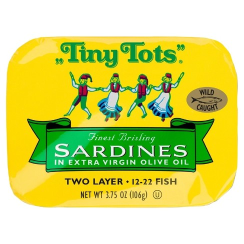 King Oscar Tiny Tots Sardines in Olive Oil - 3.75oz - image 1 of 1