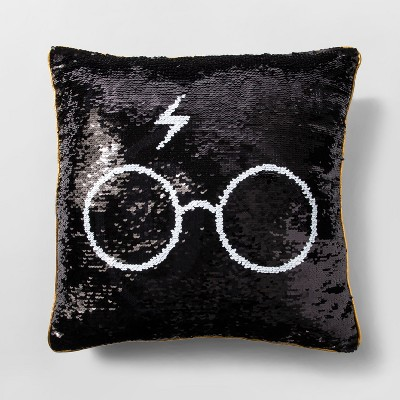Harry Potter Throw Pillow Black/Gold