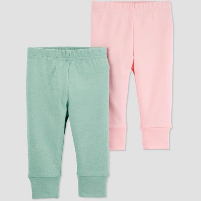 Baby Girls' 2pk Leggings - Just One You® made by carter's 9M Green