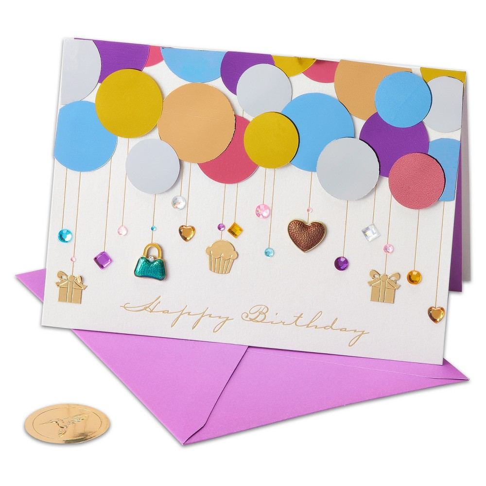 Papyrus Layers Of Balloons Greeting Card, Multi-Colored