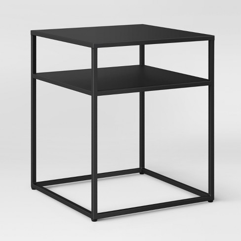 Glasgow Metal End Table Black Project Target - Metal table with shelves