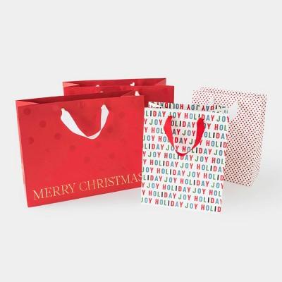 Red Multicolor Gift Bag, Set of 4 (2 cub, 2 vogue) - Sugar Paper™
