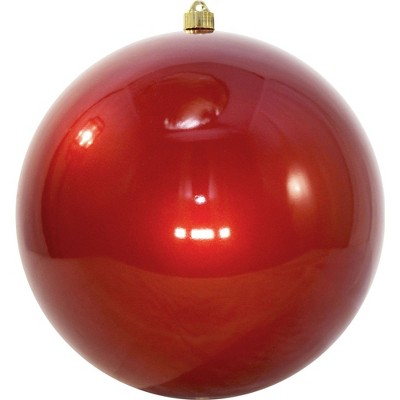 "Christmas by Krebs Shiny Candy Red Shatterproof Christmas Ball Ornament 12"" (300mm)"