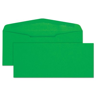 Quality Park Colored Envelope Traditional #10 Green 25/Pack 11135
