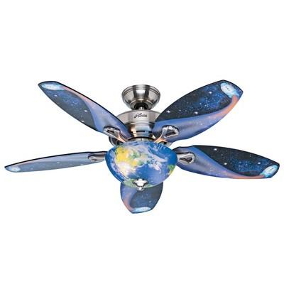 """48"""" Discovery Ceiling Fan Nickel (Includes LED Light Bulb) - Hunter Fan"""