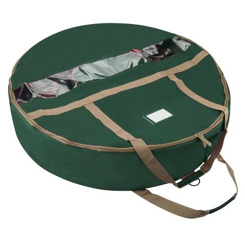 "Elf Stor 36"" Ultimate Holiday Christmas Wreath Storage Bag Green - image 1 of 4"