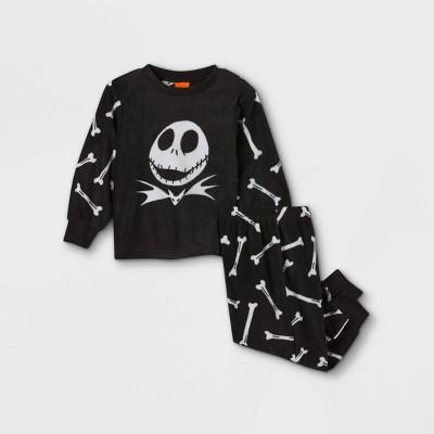 Toddler Boys' The Nightmare Before Christmas Jack 2pc Matching Family Pajama Set - Black