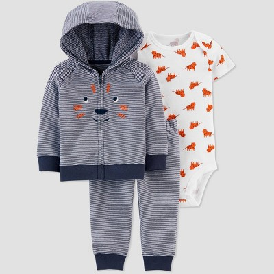 Baby Boys' South Tiger Top & Bottom Set - Just One You® made by carter's Navy 9M