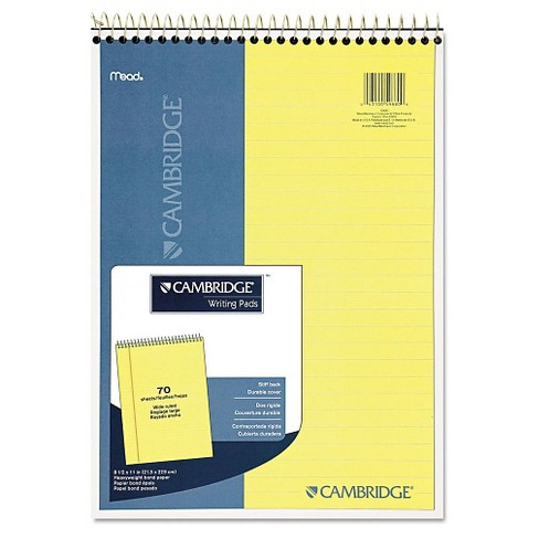 Cambridge® Premium Wirebound Legal Pad, Legal Rule, 8 7/8 x 11, Canary Paper, 70 Sheets - image 1 of 2
