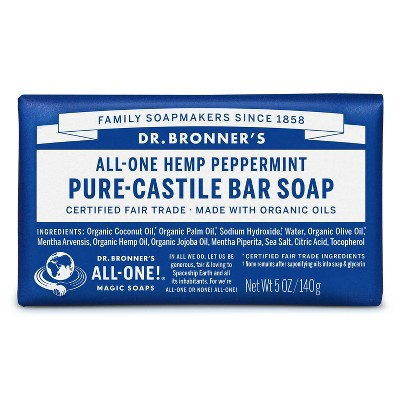 Dr. Bronner's All-One Hemp Peppermint Pure-Castile Bar Soap - 5oz