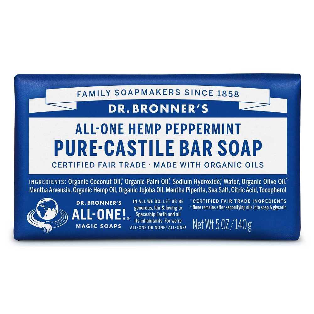 Image of Dr. Bronner's All-One Hemp Peppermint Pure-Castile Bar Soap - 5oz
