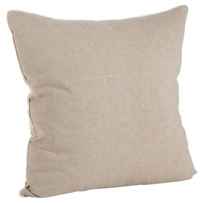 Light Brown Embroidered Flower Throw Pillow (18 )- Saro Lifestyle®