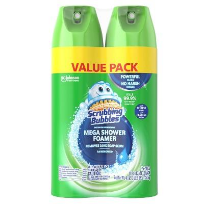 Scrubbing Bubbles Mega Shower Foamer Aerosol - Rainshower - 20oz/2ct