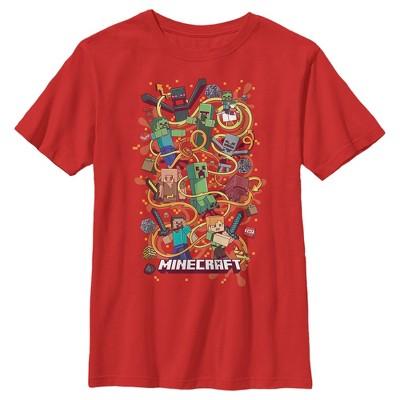 Boy's Minecraft Group Shot T-Shirt