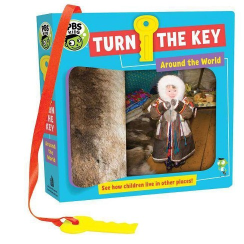 Turn the Key: Around the World - (PBS Kids) by  Julie Merberg (Board_book) - image 1 of 1