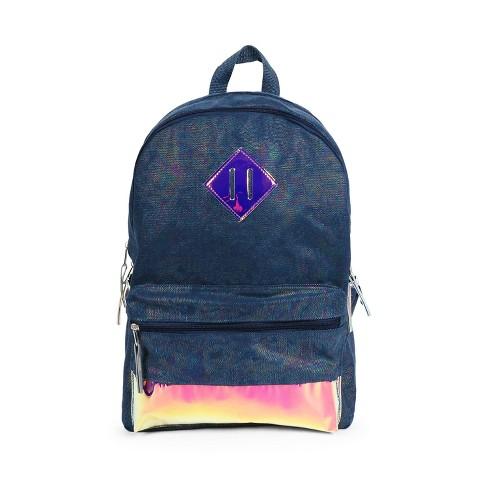 "FAB L2D 17"" Metallic Denim Backpack - Blue - image 1 of 6"