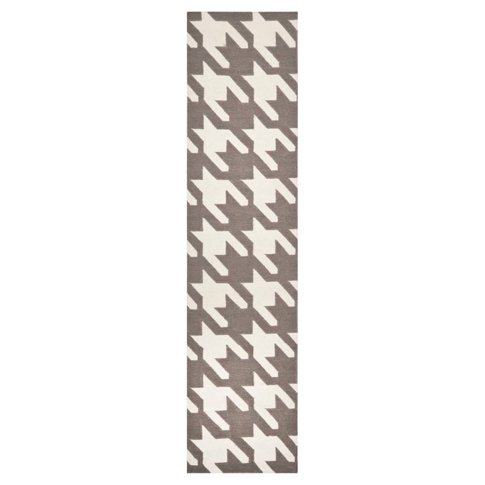 Madaket Flatweave Wool Rug - Gray/Ivory (2'6x10') - Safavieh
