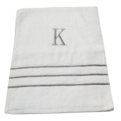 Monogram Hand Towel K - White/Skyline Gray - Fieldcrest®