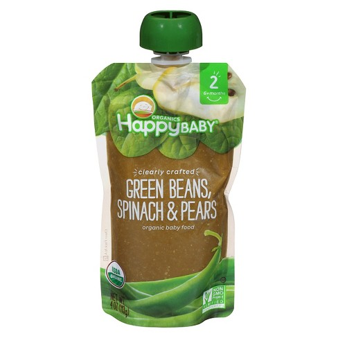 Happy Baby Pureed Pears Beans Baby Food - 4oz - image 1 of 4