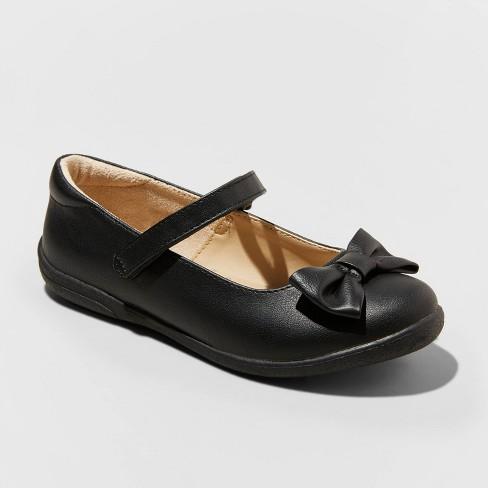 Girls' Orly Mary Jane Shoes - Cat & Jack™ Black - image 1 of 3