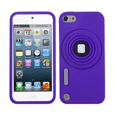 MYBAT For Apple iPod Touch 5th Gen/6th Gen Purple Camera Style Skin Case Cover w/stand