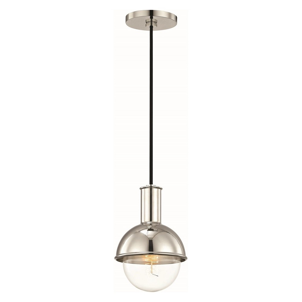 1pc Riley Light Pendant Brushed Nickel - Mitzi by Hudson Valley