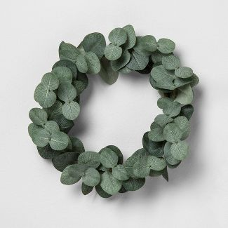 8u0022 Faux Eucalyptus Wreath 8u0022 - Hearth & Hand™ with Magnolia