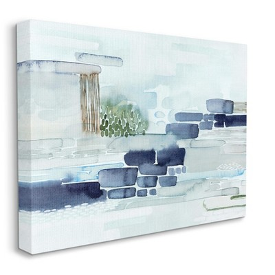 Stupell Industries Modern Abstract Coastal Landscape Organic Blocks