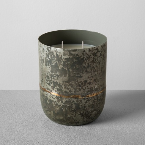 Welded Zinc Statement Candle Juniper Water & Aloe - Hearth & Hand™ with Magnolia - image 1 of 2
