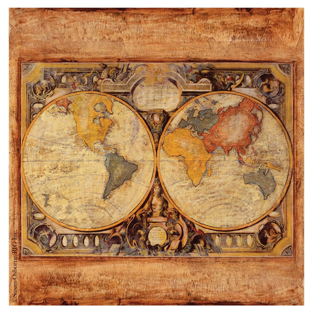 Image of Thirstystone Old Map 4 Piece Occasions Coaster Set