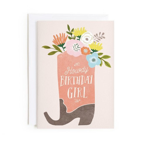Minted Howdy Card - image 1 of 1