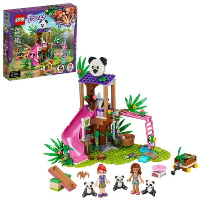 LEGO Friends Panda Jungle Tree House Set Features a Slide and 3 Panda Toys 41422