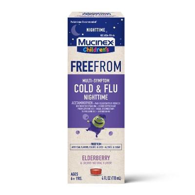 Mucinex Children's Free From Multi-Symptom Cold & Flu Nighttime Suppressant - 4 fl oz
