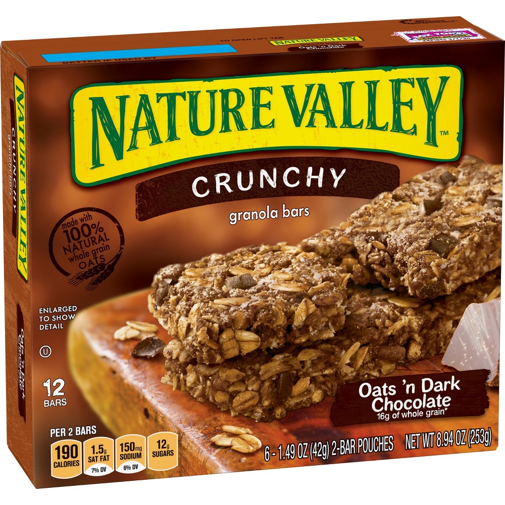 Nature Valley Crunchy Oats 'N Dark Chocolate Granola Bars - 6ct