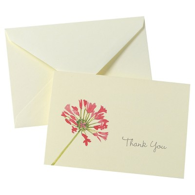 """50ct Floral """"Thank You"""" Card Pack"""