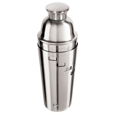 Oggi® Dial A Drink 34oz Stainless Steel Cocktail Shaker - Silver
