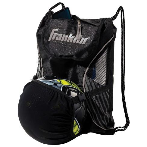 70ad289bbfc Franklin Sports Drawstring Soccer Bag - Black/Silver : Target