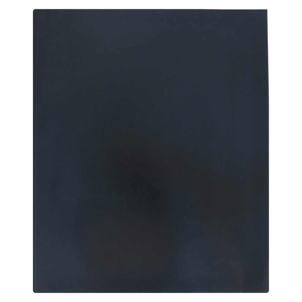 Image of 2 Pocket Paper Folder with Prongs Black - Pallex