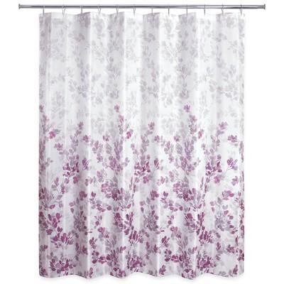 Ombre Vine Floral Shower Curtain Plum Purple - Allure Home Creation