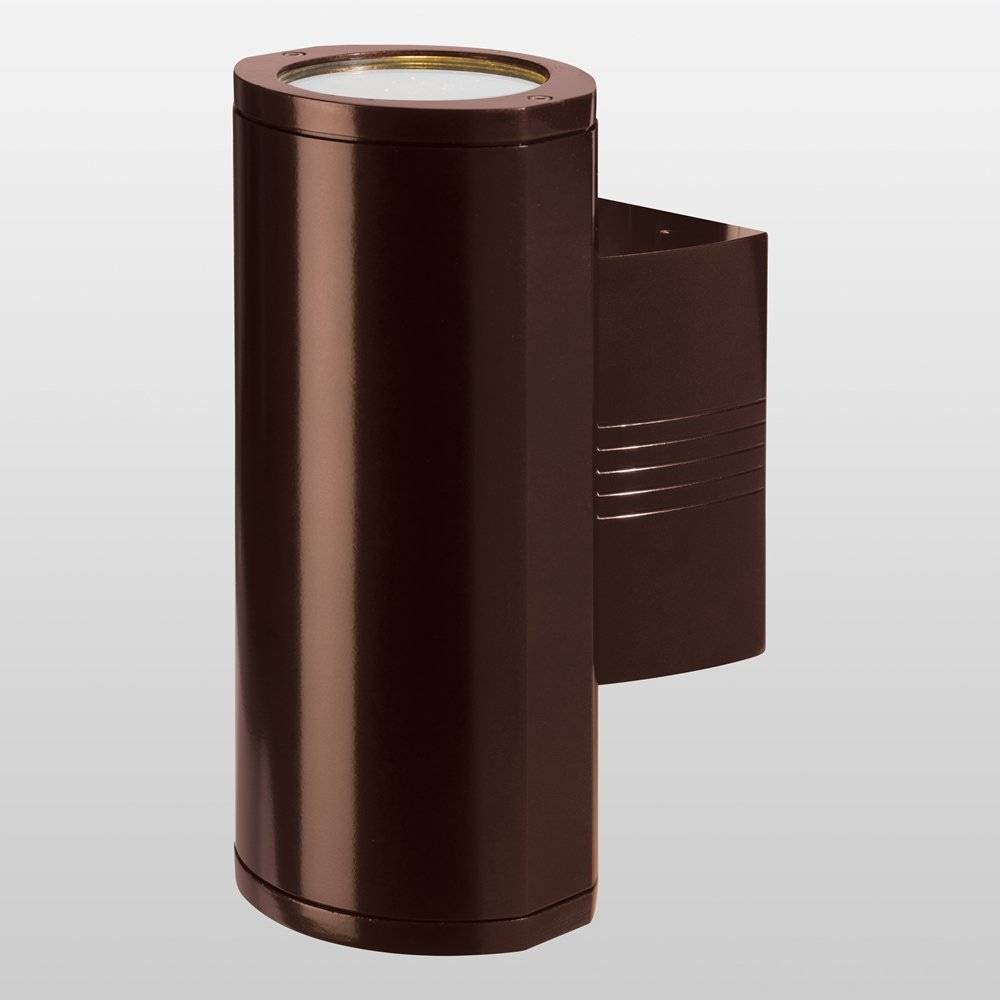 Image of Trident Marine Grade Wet Location LED Outdoor Wall Light with Clear Glass Diffuser Bronze - Access Lighting